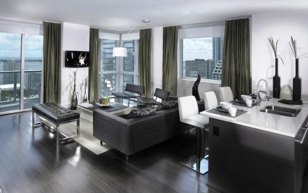 Дизайн гостиной совмещенной с кухней фото 2017 современные идеи