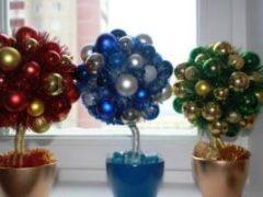 Фото и мастер-класс по изготовлению елочки: новогодний топиарий своими руками