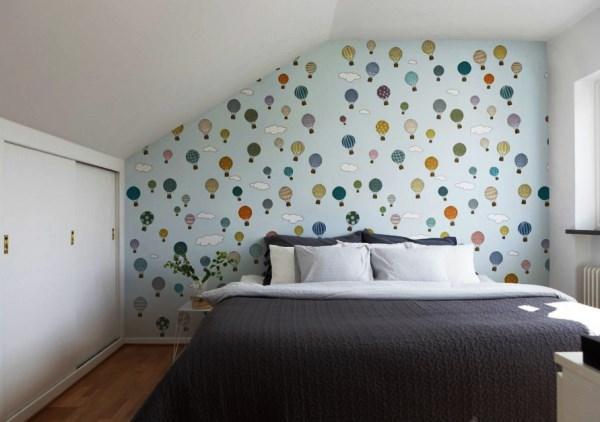 Простые обои для спальни фото в интерьере для маленьких комнат