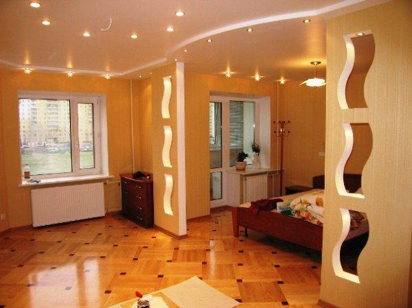 перегородки для зонирования пространства в комнате фото 11