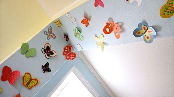 бабочки на стене своими руками фото