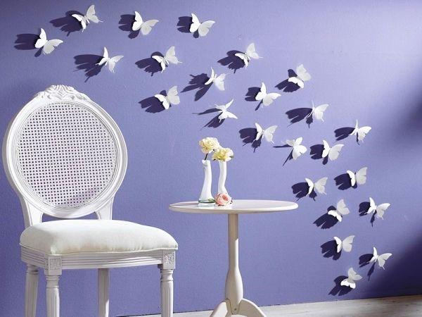 декор бабочки на стене фото 2