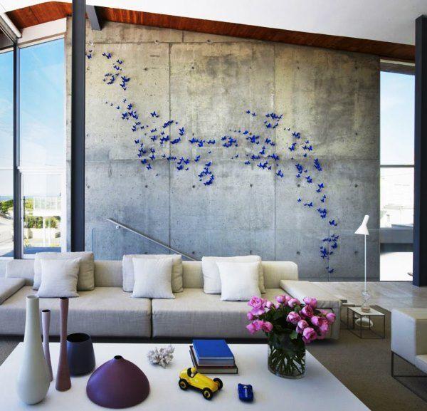 декор бабочки на стене фото 3