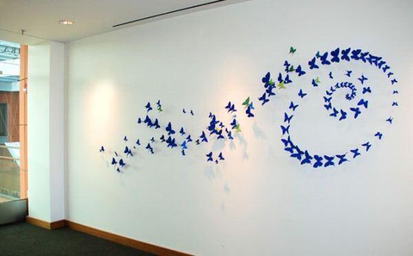 декор бабочки на стене фото 6