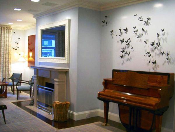 декор бабочки на стене фото 8
