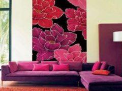 Как можно красиво поклеить обои в зале двух цветов: дизайн, фото интерьеров