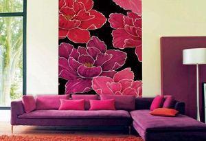 как красиво поклеить обои в зале двух цветов фото
