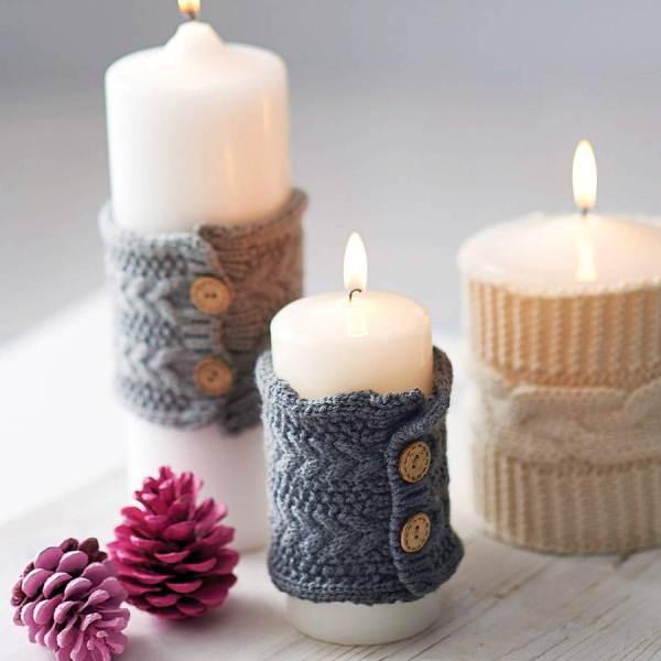 новогодние свечи своими руками фото