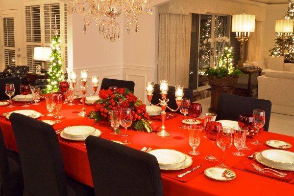 Оформление новогоднего стола фото