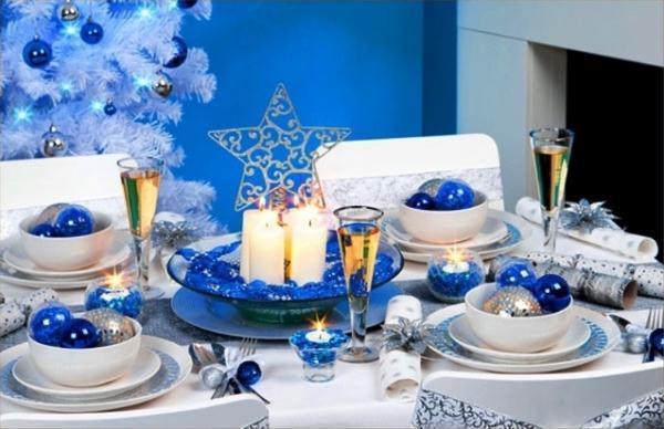 Сервировка новогоднего стола 2018 фото