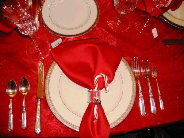 Сервировка стола на новый год фото