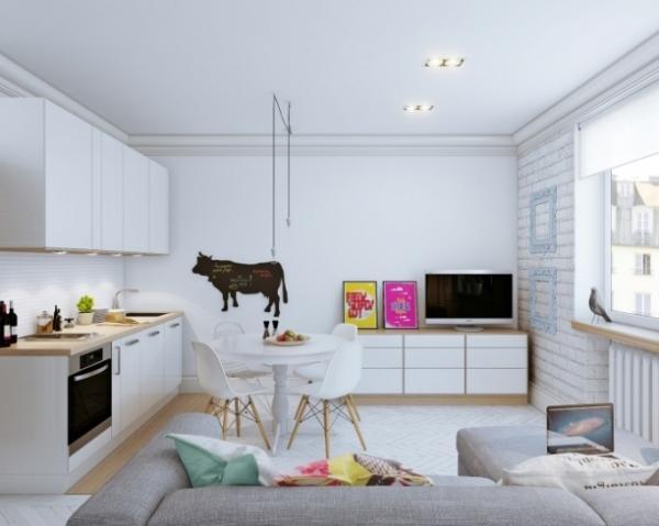 скандинавский стиль в малогабаритных квартирах фото 12
