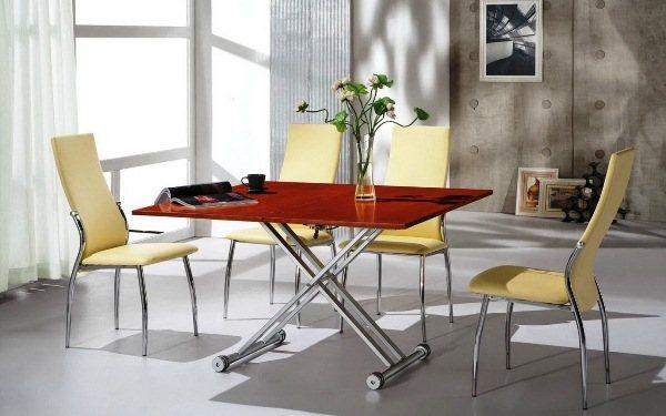 стол трансформер журнальный обеденный фото 2
