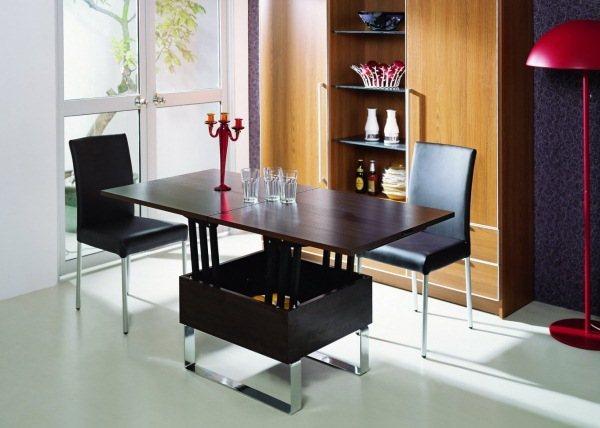 стол трансформер журнальный обеденный фото 8