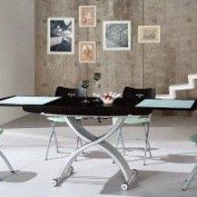 Журнальный обеденный стол-трансформер: фото с раскладными и раздвижными вариантами в интерьере