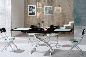 стол трансформер журнальный обеденный раздвижной
