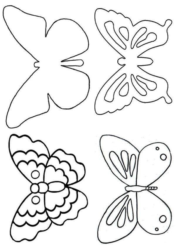 трафареты бабочек для декора стен фото