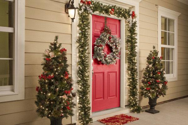 украшение дома на новый год фото 2