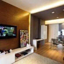 Как разделить на две зоны однокомнатную квартиру 40 кв. м: фото, дизайн и секреты оснащения жилых комнат
