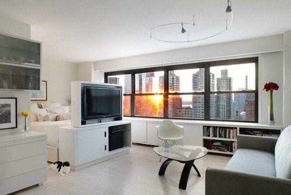 дизайн однокомнатной квартиры 40 кв.м фото разделить на две зоны фото 9