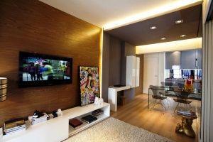 дизайн однокомнатной квартиры 40 кв.м фото разделить на две зоны