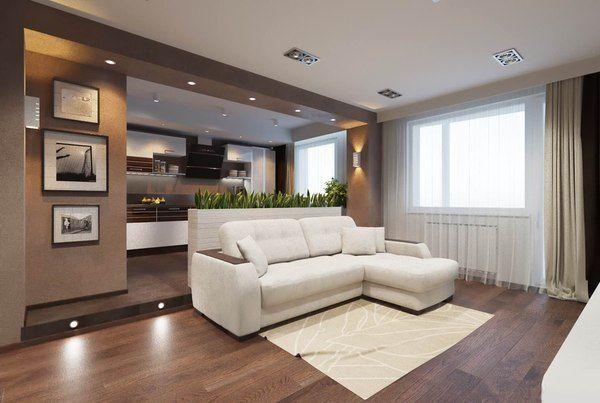 планировка однокомнатной квартиры 40 кв.м фото разделить на две зоны