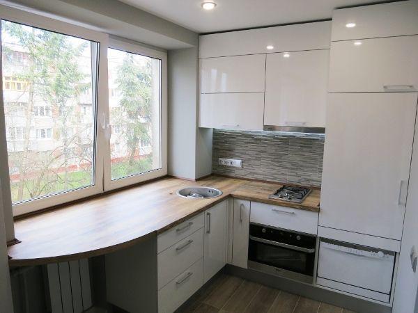 Идеи для маленькой кухни 6 кв. м фото