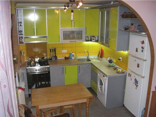 Ремонт на кухне 6 кв. м фото