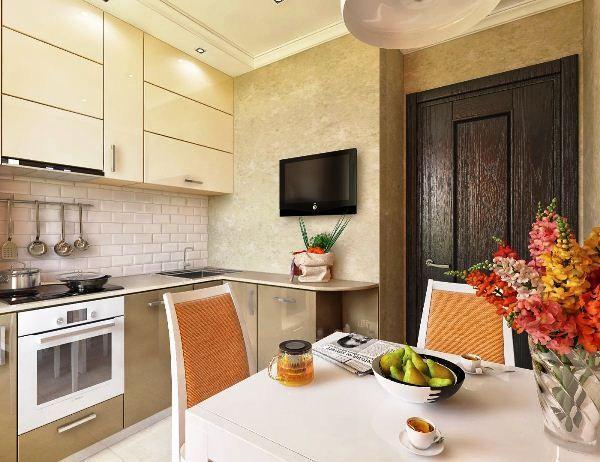 Интерьер маленькой кухни 6 кв. м фото
