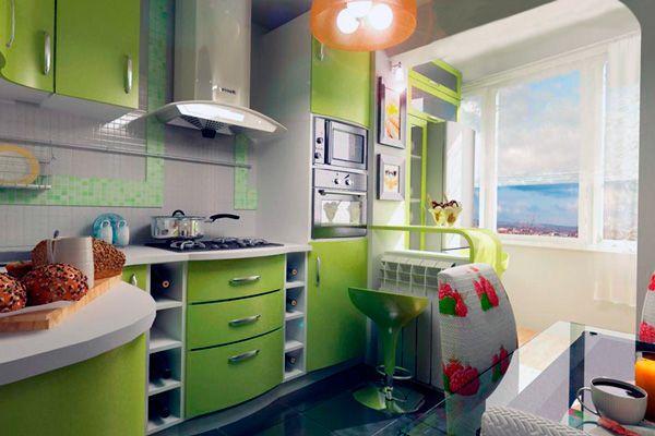 Ремонт кухни 6 кв. м фото