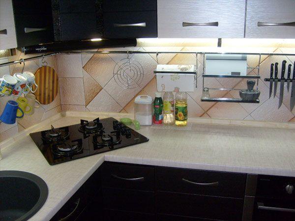 Ремонт в кухне 6 кв. м фото