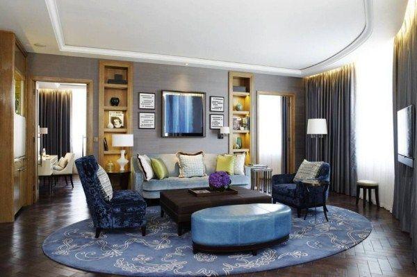 ковры в интерьере гостиной фото 11