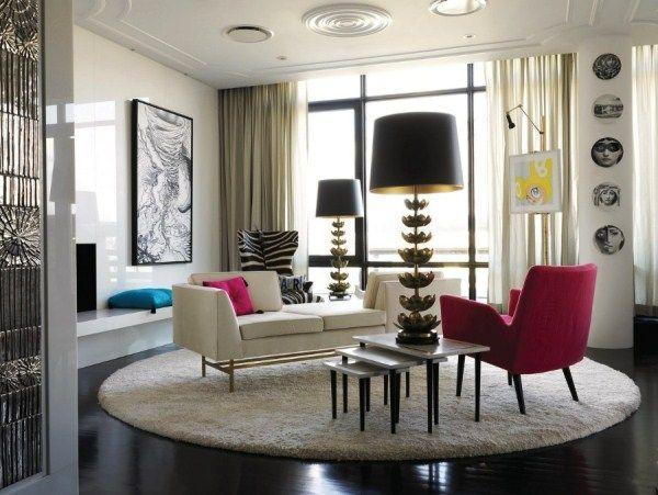 ковры в интерьере гостиной фото 13