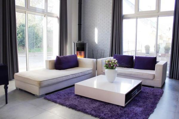ковры в интерьере гостиной фото 16