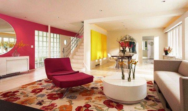 ковры в интерьере гостиной фото 4