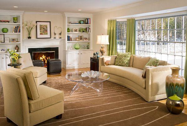 ковры в интерьере гостиной фото 8