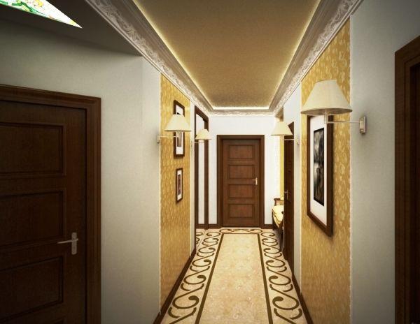 обои для маленькой прихожей и коридора фото 4