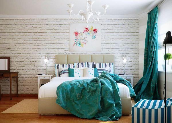 Белый декоративный кирпич в интерьере фото
