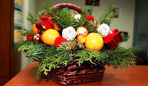 композиция с апельсинами к новому году