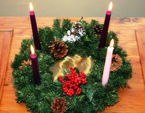 новогодние украшения для стола