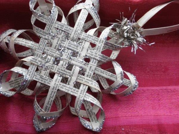 объемная снежинка из бумаги фото 11