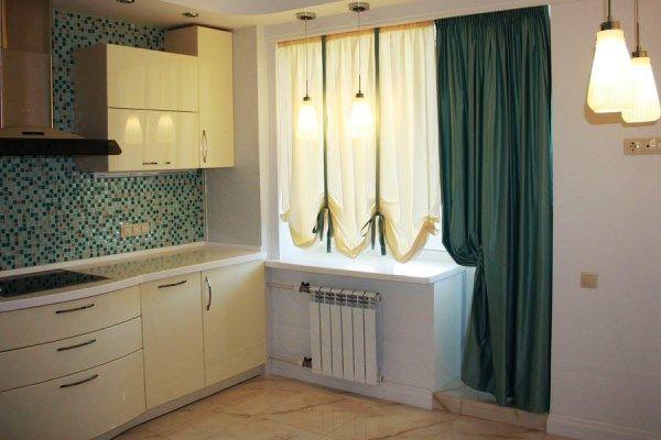 шторы на кухне в интерьере фото 5