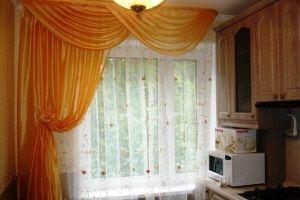 шторы на кухне в интерьере